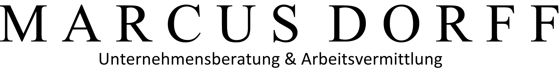 Marcus Dorff Unternehmensberatung und Arbeitsvermittlungs Logo